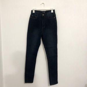 Fashion Nova Dark Wash High Rise Skinny Jeans